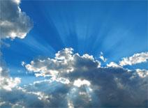 nice blue optimistic sky