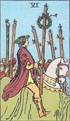 6 of wands minor arcana card