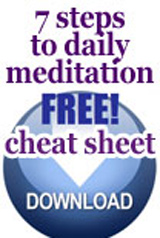 7 steps to daily meditation