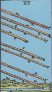 Eight of Wands Minor Arcana Card