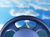 behind the wheel