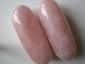 Rose quartz rolls