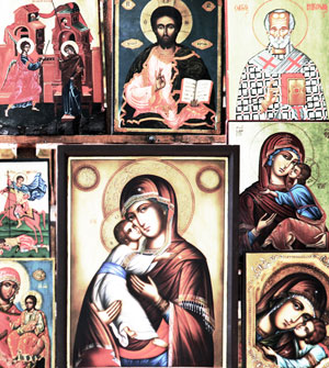 icons of Christ and Mother Mary