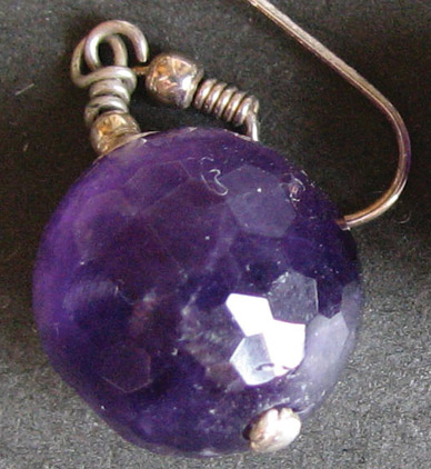 faceted amethyst earring