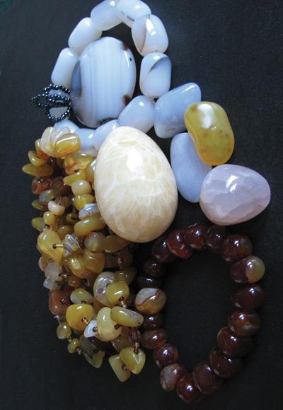 various chalcedony stones