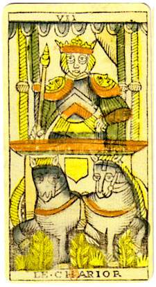 the chariot tarot card  - illustration from the Marseille deck