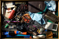 clutter on the desk