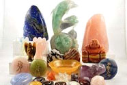 various crystals and stones