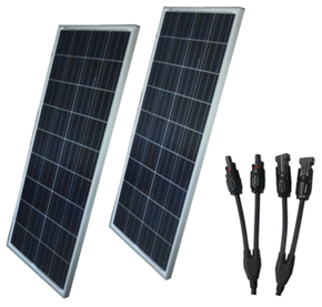 dm 145 Watt solar panel 2 pack