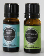 essential oil in small bottles