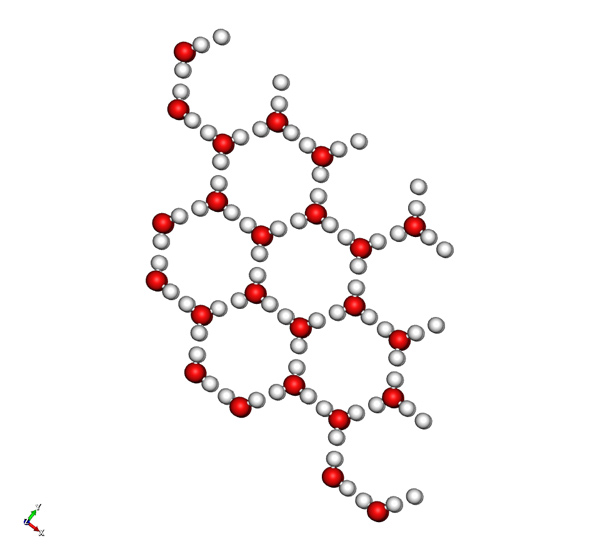 the hexagonal crystal structure of ice