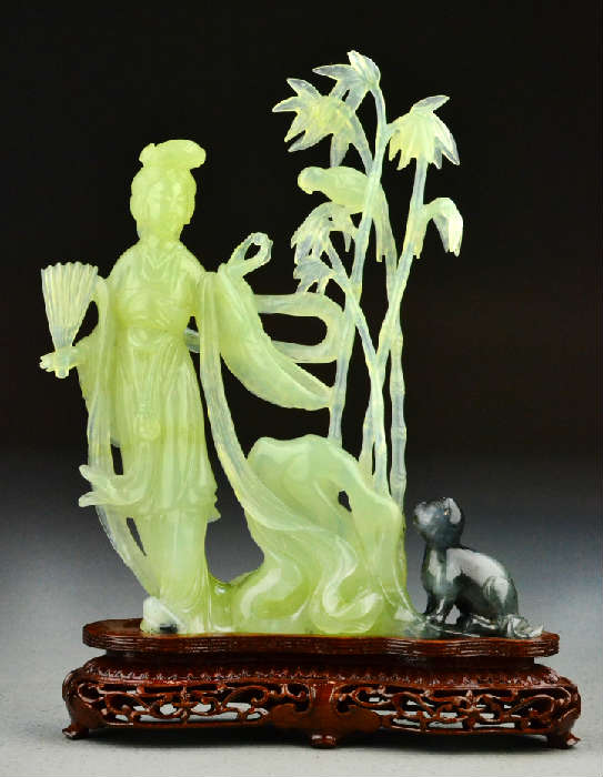 Chinese Qing Jade Figural Sculpture