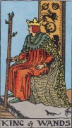 the king of wands minor arcana card