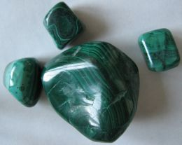 beautiful green malachite tumbled stones