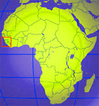 Map of africa with sierra leone marked