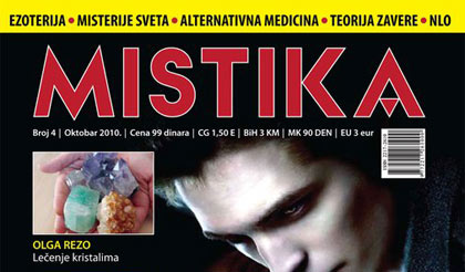 naslovna strana magazina Mistika, broj 4, Olga Rezo - Ruke koje lece