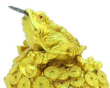 three legged feng shui money frog