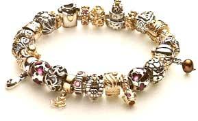 a typical pandora bracelet
