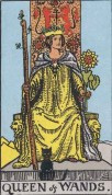 the queen of wands minor arcana card