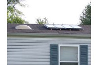solar panels mounted on roof