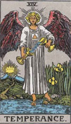 "Temerance from the 'Pamela-A"" Tarot Deck"