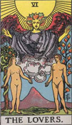 the lovers tarot card