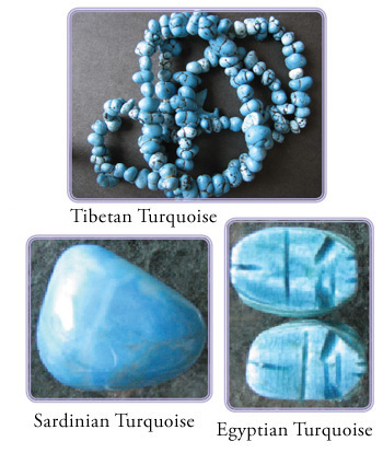 various turquoise stones